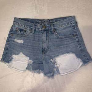 Super distressed high waisted shorts